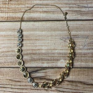 J Crew Vintage Brulee Mixed Stone Neutral Necklace